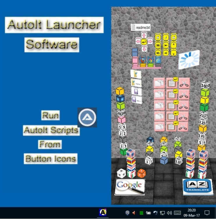 autoit script launcher with multi clipboard and button icons